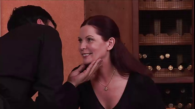 Mature couple fucking in a restaurant